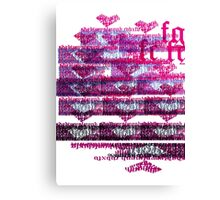 Puzzle heart wall Canvas Print