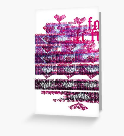 Puzzle heart wall Greeting Card
