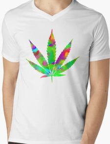 Weed Mens V-Neck T-Shirt