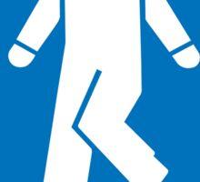 Men Toilet Sign, California, USA Sticker