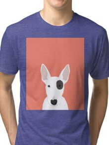 Bull Terrier pet gift dog breed cute puppy funny dogs spot terriers animal kids fur baby Tri-blend T-Shirt