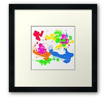 color splash Framed Print