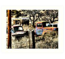 Budville Auto Graveyard ~ Route 66 NM Art Print