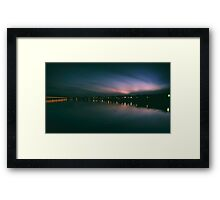 Preston Docks Twilight Framed Print