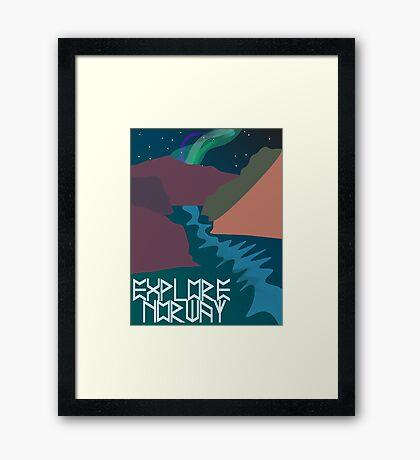 Explore Norway Framed Print