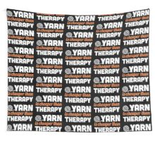 Yarn is cheaper than therapy Wall Tapestry