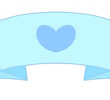 Heart banner- Blue by phoenixtcm
