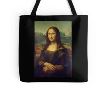 Mona Lisa, Leonardo da Vinci, La Gioconda, 1503, Louvre, Paris, France, on BLACK Tote Bag