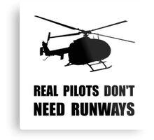 Helicopter Pilot Runways Metal Print