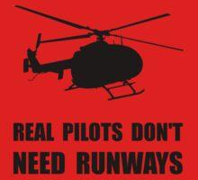Helicopter Pilot Runways Baby Tee