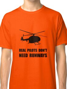 Helicopter Pilot Runways Classic T-Shirt