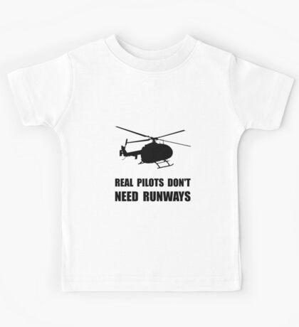 Helicopter Pilot Runways Kids Tee