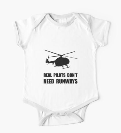 Helicopter Pilot Runways One Piece - Short Sleeve