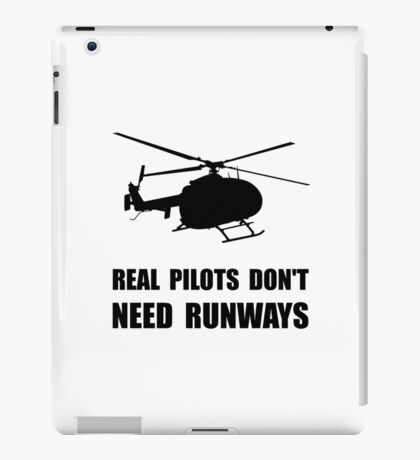 Helicopter Pilot Runways iPad Case/Skin