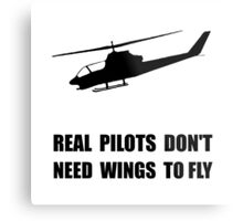Helicopter Pilot Wings Metal Print