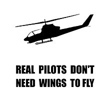 Helicopter Pilot Wings Photographic Print