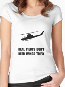 Helicopter Pilot Wings Women's Fitted Scoop T-Shirt