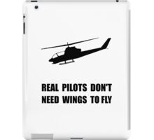 Helicopter Pilot Wings iPad Case/Skin