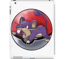 Rattata pokeball - pokemon iPad Case/Skin