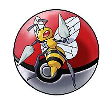 Beedrill pokeball - pokemon Photographic Print