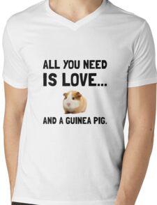 Love And A Guinea Pig Mens V-Neck T-Shirt