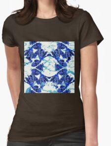 Mandala Fish Water Womens Fitted T-Shirt