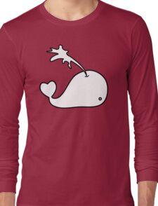 Cartoon Whale Long Sleeve T-Shirt