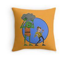 Kirk v Gorn Throw Pillow