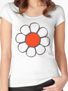 White Flower Women's Fitted Scoop T-Shirt