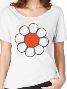 White Flower Women's Relaxed Fit T-Shirt