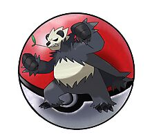 Sugimori Pangoro pokeball - pokemon Photographic Print