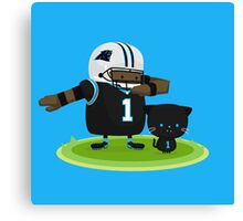 Cam Newton and Panther Canvas Print