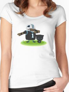 Cam Newton and Panther Women's Fitted Scoop T-Shirt