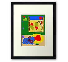 WINDY DAY AT THE BEACH Framed Print