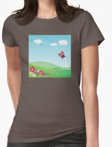 Butterfly Background Womens Fitted T-Shirt