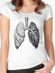 Anatomical Lungs (Human) Women's Fitted Scoop T-Shirt