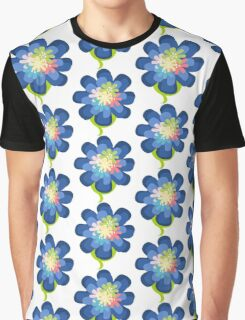 Pretty Blue Flower Graphic T-Shirt