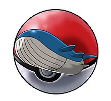 Wailord pokeball - pokemon Photographic Print