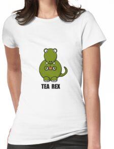 Tea Rex Dinosaur Womens Fitted T-Shirt