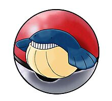 Wailmer pokeball - pokemon Photographic Print