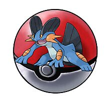 Swampert pokeball - pokemon Photographic Print