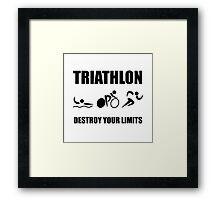 Triathlon Destroy Framed Print
