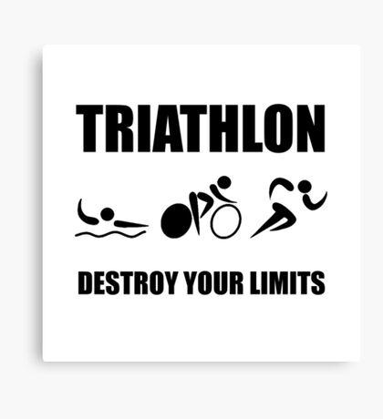 Triathlon Destroy Canvas Print
