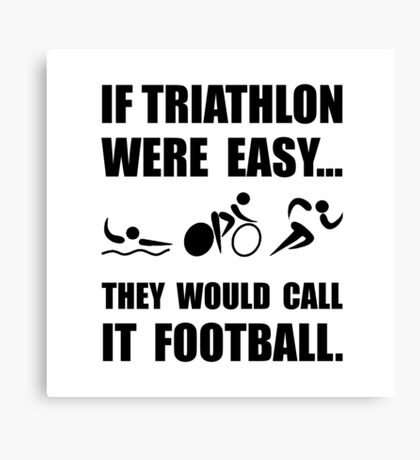Triathlon Football Canvas Print