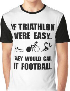 Triathlon Football Graphic T-Shirt