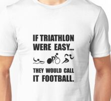 Triathlon Football Unisex T-Shirt