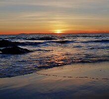 pacific ocean sunset... by Stephen Burke