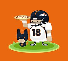 Peyton Manning and Bronco by mykowu