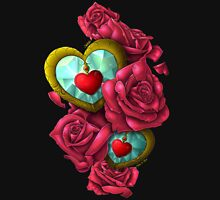 Of Hearts & Roses Womens Fitted T-Shirt