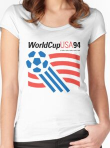 FIFA World Cup 94 USA Women's Fitted Scoop T-Shirt